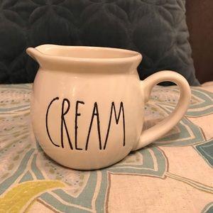 """Rae Dunn """"cream"""" small creamer"""